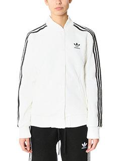 Adidas-College jacket white polyester sweatshirt