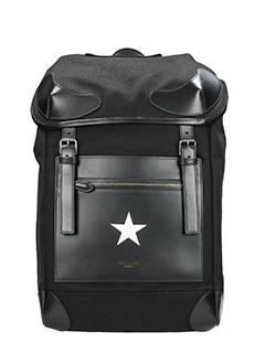 Givenchy-Zaino in pelle e tessuto nero