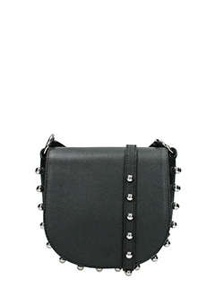 Alexander Wang-Mini Lia black leather bag