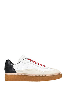 Alexander Wang-Eden low white suede and leather sneakers