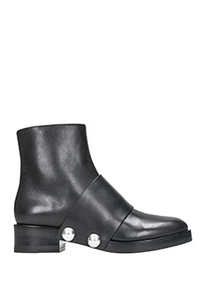 Alexander Wang-Hanne black leather ankle boots