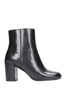 Alexander Wang-Hana black leather ankle boots
