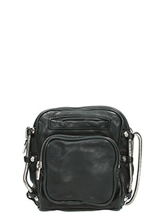 Alexander Wang-Brenda camera black leather bag