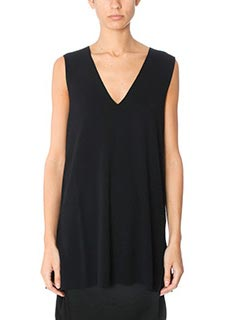 T by Alexander Wang-black viscose topwear