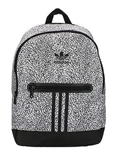 Adidas-Zaino Bp Ess Knit in tessuto grigio e nero