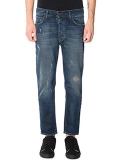 Low Brand-Jeans T 5 1 Baggy in denim blue emboried