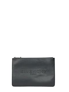 Givenchy-Pandora pouch M black leather clutch