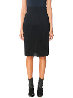 Givenchy-Gonna Pleated in cr�pe nera