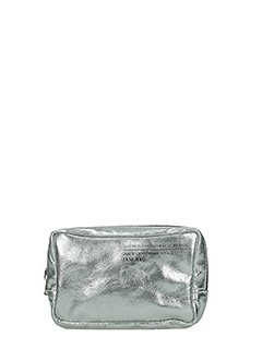 Golden Goose Deluxe Brand-Jam silver leather clutch