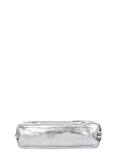 Golden Goose Deluxe Brand-silver leather clutch
