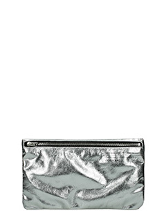 Golden Goose Deluxe Brand-Corn silver leather clutch