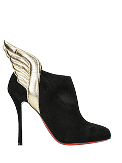 Christian Louboutin-Mecura  black suede ankle boots