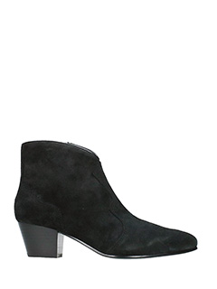 Ash-Hurrican black suede ankle boots