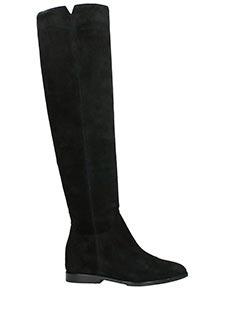 Ash-Stivali Jess in camoscio nero