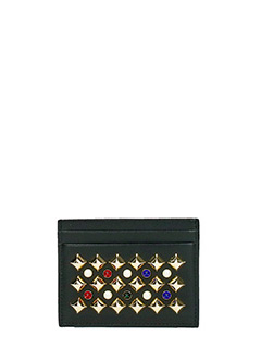 Christian Louboutin-Portacarte Kios Simple Card Holder in pelle nera