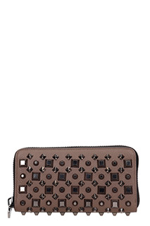 Christian Louboutin-Panettone walle brown leather wallet