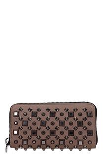 Christian Louboutin-Portafoglio Panettone Zipped  Wallet in pelle marrone