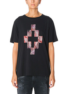 Marcelo Burlon-T-Shirt Staff in cotone nero