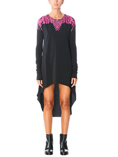 Marcelo Burlon-T-Shirt Long Nabi in cotone nero