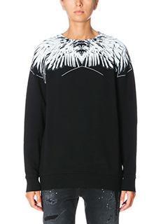 Marcelo Burlon-Paloma crew black cotton sweatshirt