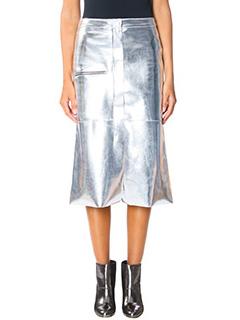 Golden Goose Deluxe Brand-Leslie  silver leather skirt