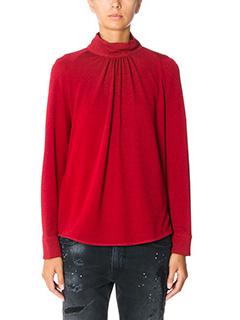 Golden Goose Deluxe Brand-Camicia Marian in cr�pe rossa