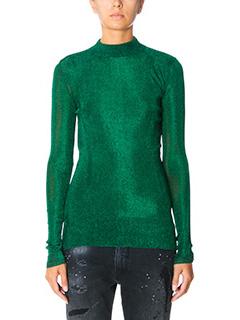 Golden Goose Deluxe Brand-Robin green wool knitwear