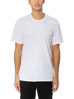 Golden Goose Deluxe Brand-T-Shirt Flag in cotone bianco