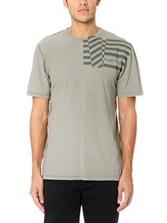 Golden Goose Deluxe Brand-T-Shirt Flag in cotone verde