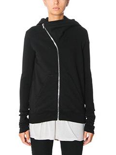 Rick Owens DRKSHDW-Mountai hoodie black cotton sweatshirt
