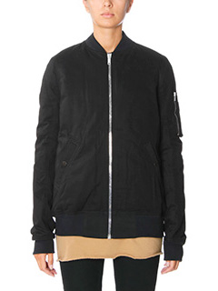 Rick Owens DRKSHDW-Bomber Fight in cotone nero