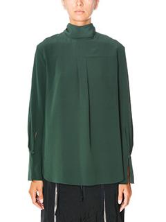 Chlo�-Blusa in seta verde