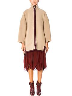 Chlo�-Mantella in lana cammello