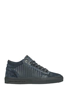 Android Homme-Sneakers Propulsion mid in pelle e camoscio blue
