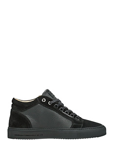 Android Homme-Sneakers Propulsion mid in pelle e camoscio nero