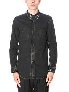 Givenchy-Camicia in denim nero