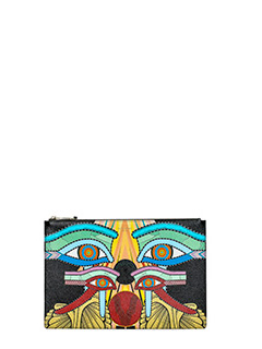 Givenchy-Pouch M multicolor leather clutch