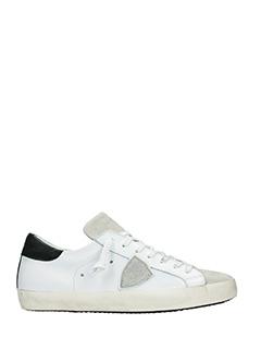 Philippe Model-Sneakers Classic in pelle bianca nera