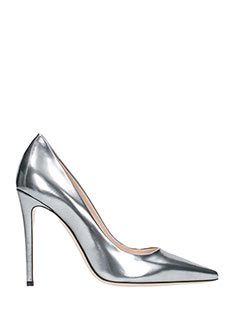Dei Mille-silver leather pumps
