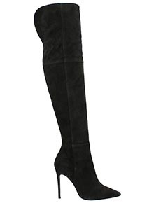 Dei Mille-black suede boots