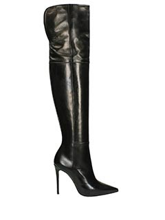 Dei Mille-black leather boots
