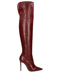 Dei Mille-bordeaux leather boots