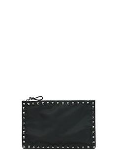 Valentino-Pochette Rockstud Small in pelle nera