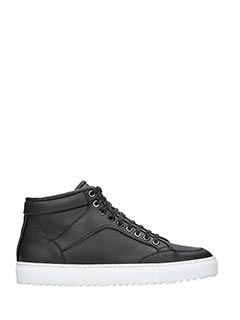 Etq .-Sneakers High 1 in pelle nera