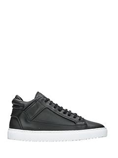 Etq .-Sneakers Mid 2 in pelle nera