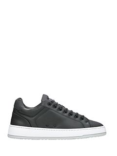 Etq .-Sneakers Low 4  in pelle nera