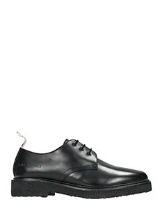 Common Projects-Stringate Cadet Derby  in pelle nera