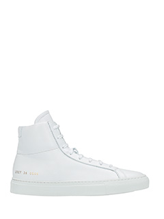 Common Projects-Sneakers Original Achilles High in pelle bianca