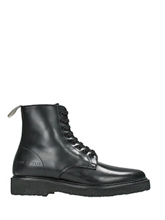Common Projects-Standard Combat black leather combat boots