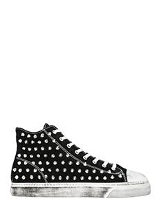 Gienchi-Sneakers alte Jean Michel in camoscio nero